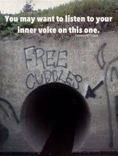 you may want to listen to your inner voice on this one..... GO IN THE TUNNEL.