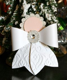 Stampin' Up! Christmas by Krystal's Cards and More: Gift Bow Angel