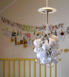 Upcycled Lightbulb Chandelier