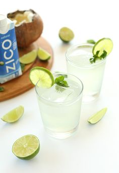 Coconut Gin and Tonic! 4 ingredients, no shaking required, and perfectly sweet and tart!!