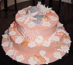 beach bridal shower cake