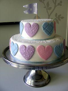 Pretty hearts cake