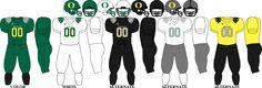 Oregon Ducks Football Team uniforms