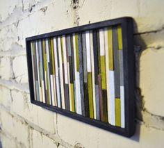 Coffee stirrers wall art.. Great idea!