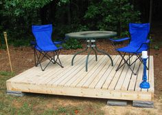 Picture of Simple Floating Deck diy floating decks, idea, float deck, simpl float, outdoor, patio, hous, backyard, garden