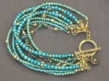craft, bead bracelet, green, etsi jewelri, beadwork, jewelri idea, jewelry bracelets, beaded bracelets, diy