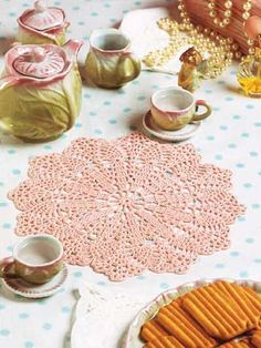 Crochet Doilies - Vintage Doily Crochet Patterns - Pink Blush Doily