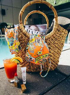Our necessities for a perfect poolside weekend. Cheers!
