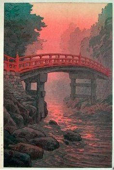 hanga gallery . . . torii gallery: Sacred Bridge by Ito Yuhan