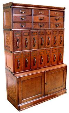 Gorgeous antique filing cabinet