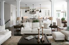 Sofa, Loveseat, Chairs with footstools... spread out.