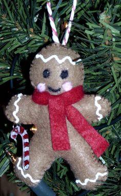 felt ornament - gingerbread man