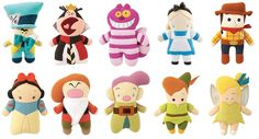 Disney Pook-A-Looz plush designed by MINDstyle - www.mindstyle.com | THese are really great, simplified interpretations of the original character designs. doll, toy, plush, alice in wonderland, babi disney, gift idea, disney pookalooz, felt disney, disney characters