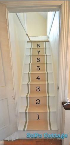 Painted steps. DIY.