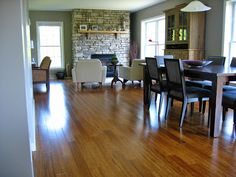 Strand Carbonized Bamboo (as seen in HGTV Dream Home 2013) looks amazing in this house!