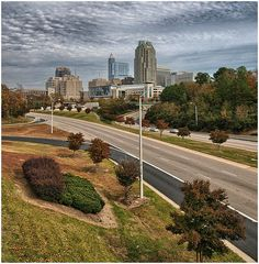 Raleigh NC on a Cloudy Day
