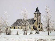 Love old churches...the snow makes it that much better