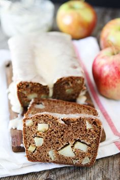Apple Bread with Brown Butter Glaze | twopeasandtheirpod.com