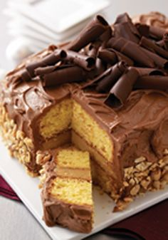 Peanut Butter-Chocolate Layer Cake