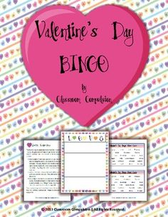 FREE Valentine's Day Candy Hearts Bingo Game games, candi heart, bingo game, teacher idea, heart bingo, valentine day, candies, classroom compuls, free valentin