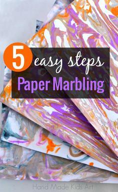 5 Easy Steps to DIY Paper Marbling. So simple!
