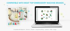 Compatible with most top embrodiery machine brands: Babylock, Bernina, Brother, Husqvarna Viking, Janome, Pfaff, Singer