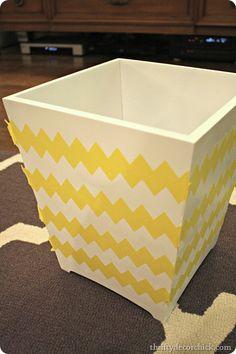 Whaaaaaatttt?????? Dude!  Frogtape sells a pre-cut CHERVON painter's tape?!!  (Look at Lowe's and Home Depot)