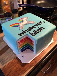 OP says: No one ever gives me the right cake.  This is what I want.  And some booze.