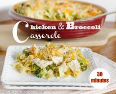 chicken and broccoli casserole ready in 30 minutes!