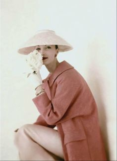 Evelyn Tripp - March 1956 - Vogue US Cover - Photo by Karen Radkai - @~Mlle