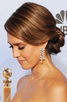 Jessica Alba Updo Hairstyle