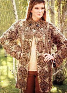 Motifs Jacket free crochet pattern
