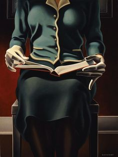 Silent reading and cold by Kenton Nelson