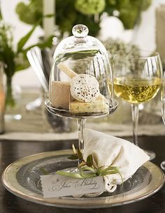 Cloche individual cheese platters