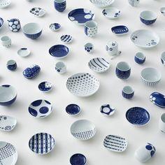 Ume-play and Karakusa-play ceramics by Nendo