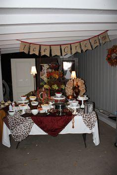 fall wedding food table