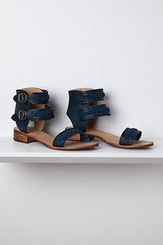 Indigo Braided Sandals #anthropologie