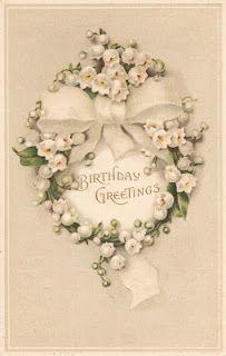 birthday postcard, lili, birthday greetings, vintage birthday, vintag birthday