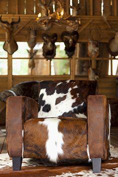 Cow hide chair
