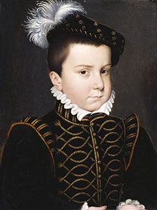 "The young Duc d'Alencon (brother of King Francois II, Mary Stuart's first husband) who grew up to be Elizabeth I's suitor, her ""frog."""
