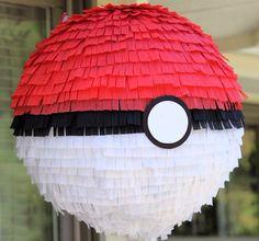Pokemon ball inspired custom party pinata pikachu by buddyluvo2, $26.50