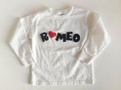 Romeo Boy Valentine's Day Shirt toddler youth boys