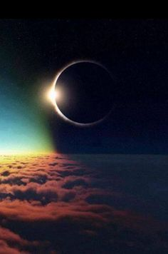 Solar eclipse from the air.