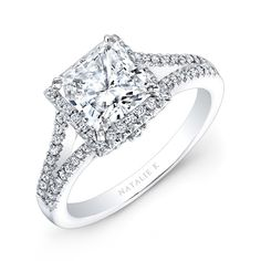 Halo princess cut rings