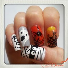 Halloween part 2 by irdimova from Nail Art Gallery