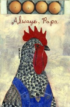 """""""Always, Papa"""" by Katherine Dunn, artist of Apifera Farms, home for senior animals & donkeys in need."""
