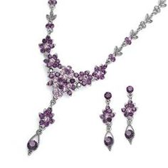Purple crystal jewelry