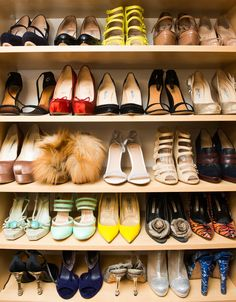 I need shelves for my shoes like this.