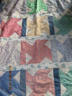 Iona's quilt, Pinwheel, 1930s fabric