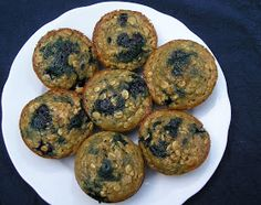 Edesia's Notebook: Blueberry Oatmeal Muffins